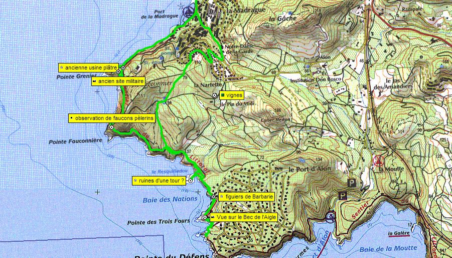 Le sentier du littoral du port de saint cyr sur mer au port d alon randomania - Camping port d alon saint cyr sur mer ...